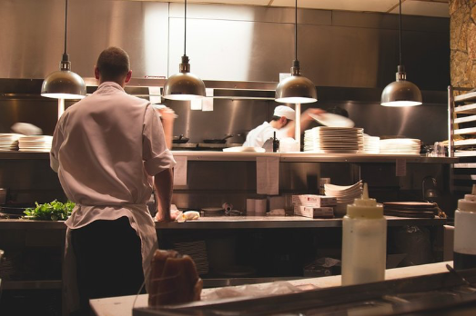 kitchen staff working in a restaurant