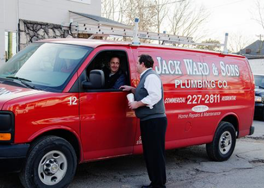 Jack Ward & Sons Plumbing Co. red truck
