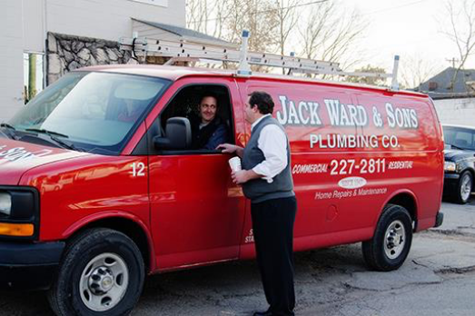 Jack Ward & Sons Plumbing Co. red van